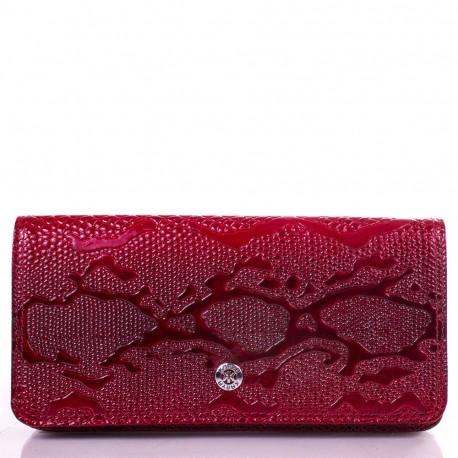 Кошелек женский кожа KARYA 0939-019  красный узор