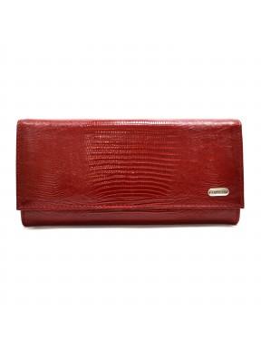 Женское портмоне из натуральной кожи CANPEL 2030-15 красный лазер