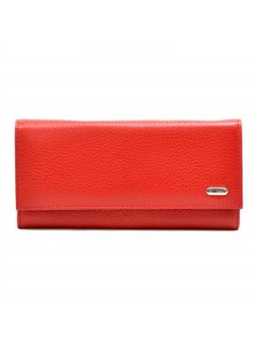 Женское портмоне из натуральной кожи CANPEL 2030-172 красный флотар