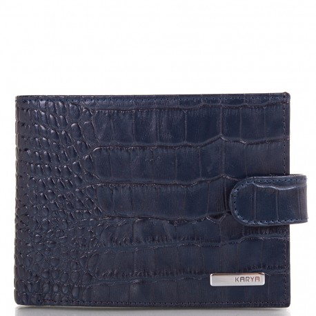 Портмоне мужское кожа KARYA 0418-58 синий кроко