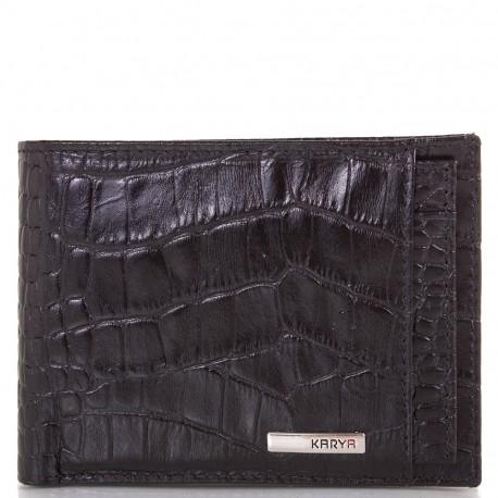 Портмоне мужское кожа KARYA 0911-53 черный кроко