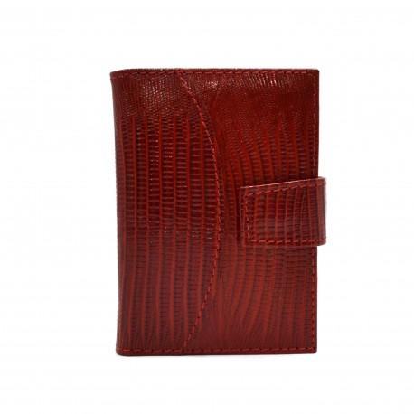 Визитница кожа CANPEL 050-15 красный лазер