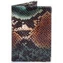 Обложка для паспорта кожаная Desisan-586 зеленая змея