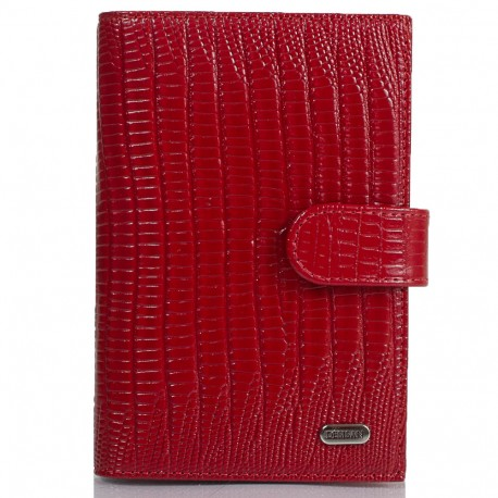 Обложка авто+паспорт  кожа Desisan 102-131 красный лазер