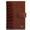 Обложка авто+паспорт кожаная Desisan 102-587 рыжий кроко лак