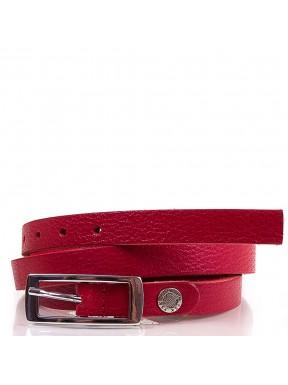 Ремень кожаный женский 2507-14 красный