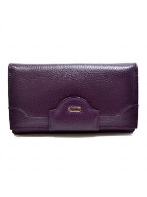 Женское портмоне из натуральной кожи CANPEL 2033-95 фиолетовый флотар