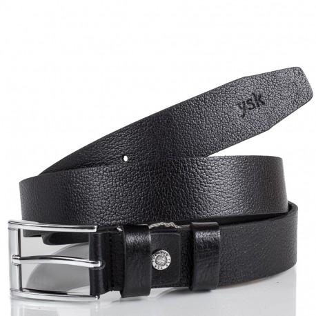 Ремень кожаный  Y.S.K. классика 3,5 см 2006 -1 черный
