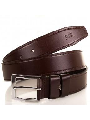 Ремень кожаный  Y.S.K. классика 3,5 см 2028-2 корич