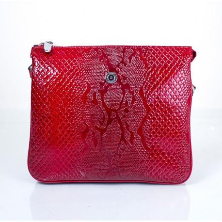 Сумка маленькая кожа KARYA 521-019 красный узор