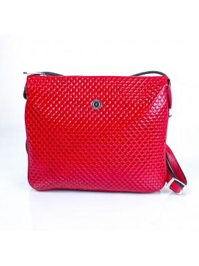 Сумка маленькая кожаная KARYA 521-122 красная капля