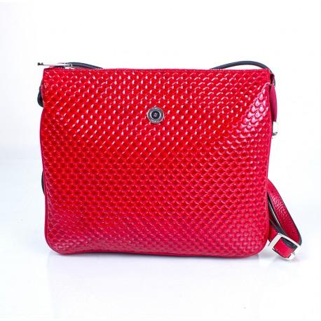 Сумка маленькая кожа KARYA 521-122 красная капля