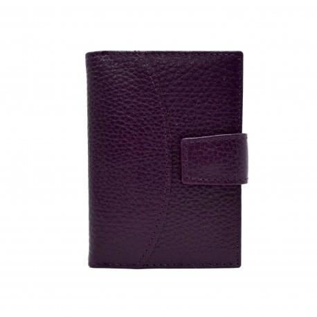 Визитница кожа CANPEL 050-95 фиолетовый флотар