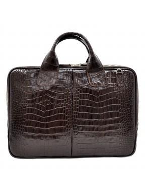 Портфель кожа Desisan 052-19 коричневый кроко