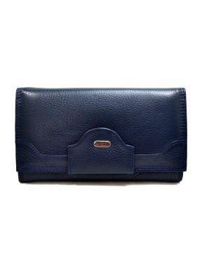 Женское портмоне из натуральной кожи CANPEL 2033-241 синий флотар
