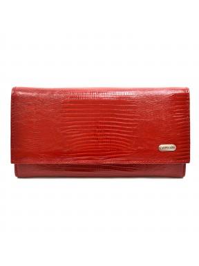 Женское портмоне из натуральной кожи CANPEL 2034-15 красный лазер