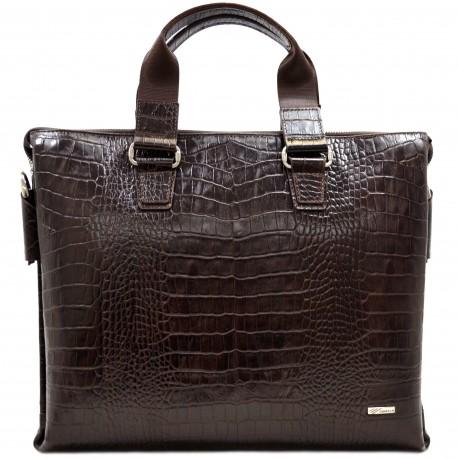 Портфель кожа Desisan 1341-19 коричневый кроко