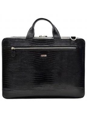 Портфель кожаный Desisan 1347-143 черный лазер