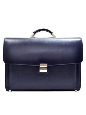 Портфель кожаный Desisan 217-315 синий флотар