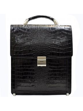 Портфель кожаный Desisan 5009-11 черный кроко