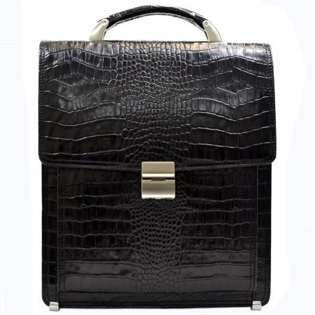 Портфель кожа Desisan 5009-11 черный кроко