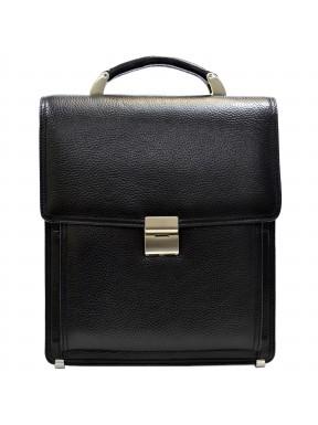 Портфель кожаный Desisan 5009-011 черный флотар