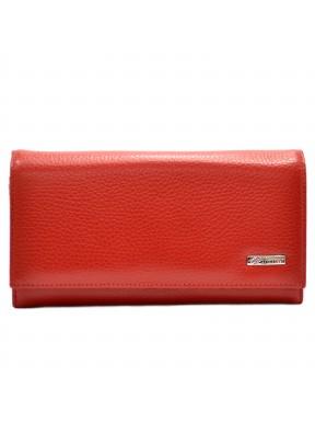 Женское портмоне кожа Desisan 057-4 красный флотар