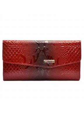 Кошелек женский кожаный Desisan 113-500 красный узор
