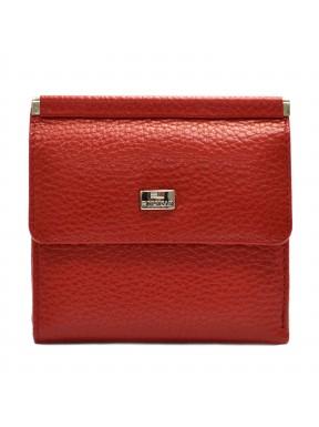 Женское портмоне кожа Desisan 067-4 красный флотар