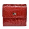 Кошелек женский кожаный Desisan 067-131 красный лазер