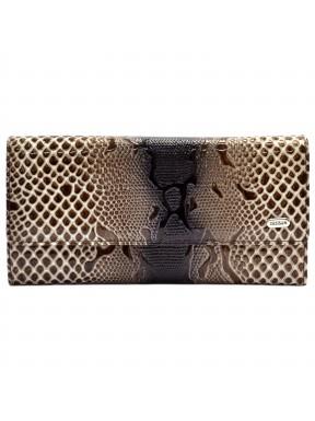 Кошелек женский кожа Desisan 150-180 бежевый змея