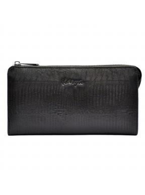 Клатч мужской кожаный KARYA 0701-076 черный лазер