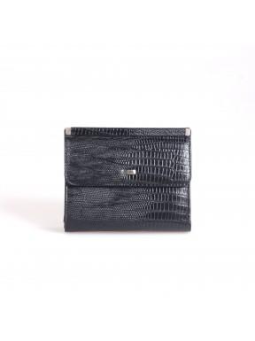 Кошелек женский кожаный GRASS 123-32 черный лазер