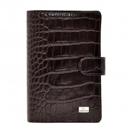 Портмоне кожа Desisan 081-19 коричневый кроко