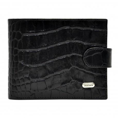Портмоне кожа Desisan 087-11 черный кроко