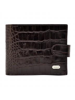 Портмоне кожа Desisan 087-19 коричневый кроко