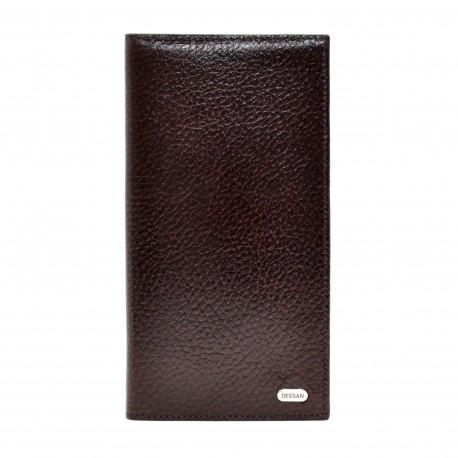 Портмоне кожа Desisan 111-019 коричневый флотар