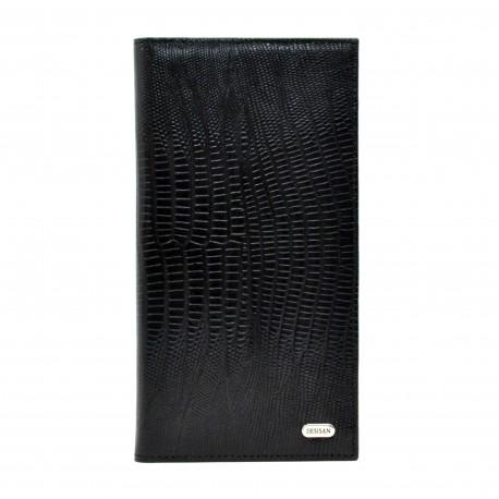 Портмоне кожа Desisan 111-143 черный лазер