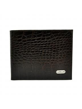 Портмоне кожа CANPEL 1021-11 коричневый кроко