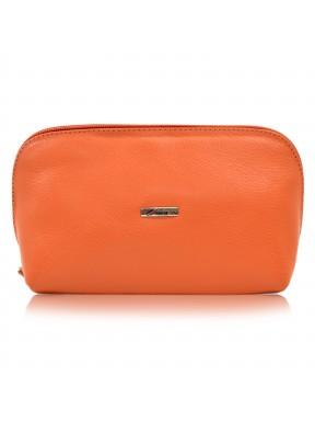 Косметичка кожа Desisan 1-374 оранжевый флотар