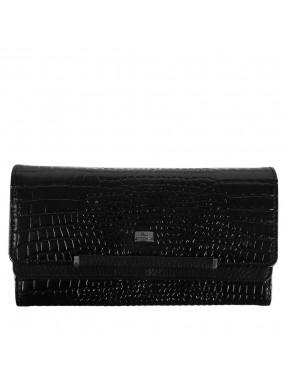 Кошелек женский кожаный Desisan 724-633 черный мелкий кроко
