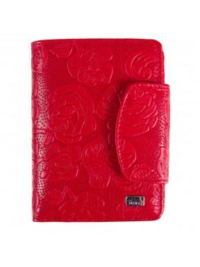 Кошелек женский кожаный Desisan 086-424 красные цветы