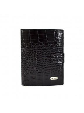 Портмоне кожа CANPEL 506-2 черный кроко