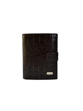 Портмоне кожа CANPEL 506-11 коричневый кроко