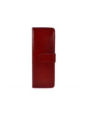 Визитница кожа CANPEL 124-15 красный лазер