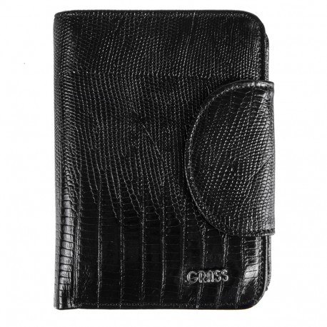 Кошелек женский кожаный GRASS 138-32 черный лазер