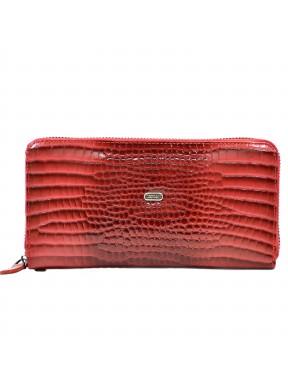 Кошелек женский кожаный Desisan 09-658 красн кроко лак