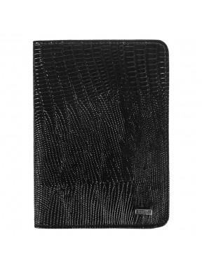 Обложка для паспорта кожа GRASS 570-32 черн лазер