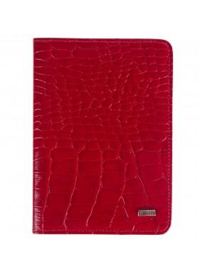 Обложка для паспорта кожа GRASS 571-31 красный кроко
