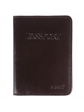 Обложка для паспорта кожа GRASS 571-04 корич гладкий